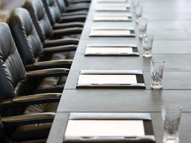 image of a boardroom table
